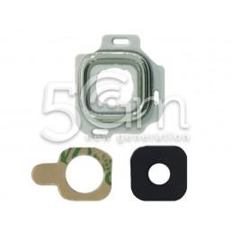 Vetrino Fotocamera + Frame Silver Samsung SM-J320