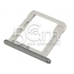 Supporto Sim Card + Memory Card Vers. Bianco Samsung SM-E700 E7