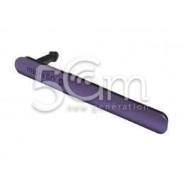Sportellino Copertura Micro SD Purple Xperia Z3