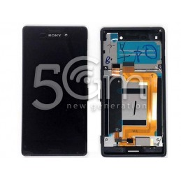 Xperia M4 Aqua Dual E2333 Black Touch Display + Frame