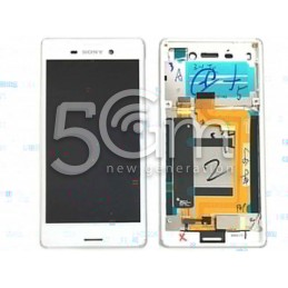Xperia M4 Aqua Dual E2333 White Touch Display + Frame