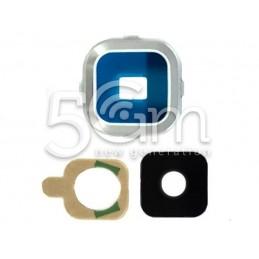 Vetrino + Frame Fotocamera Samsung SM-A7 Versione Bianco