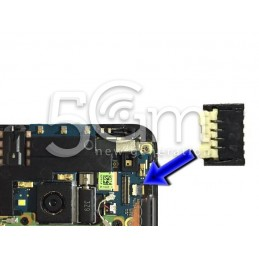 Connettore X Flat Sim Card Su Scheda Madre HTC ONE M7