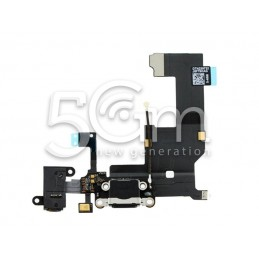 Connettore Di Ricarica Nero Flat Cable iPhone 5