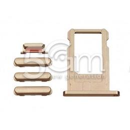 Tasti Esterni + Supporto Sim Card Gold iPhone 6 Plus