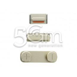 Iphone 5s Gold External Buttons Kit