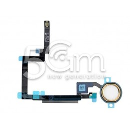 Tasto Home + Flat Cable + Finger-Prints Gold iPad Mini 3 Completo