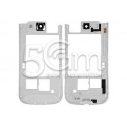 Samsung I9300 White Middle Frame