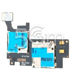 Lettore Sim Card + Mmc Reader Flat Cable Samsung N7100