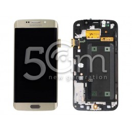 Samsung G925 S6 Edge Gold Touch Display + Frame