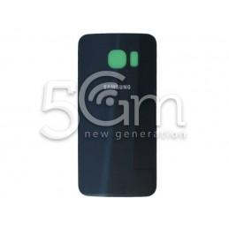 """Retro Cover Blu Scuro + Adesivo Guarnizione Samsung SM-G925 """"x Ver Nero Ori"""