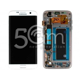 Samsung SM-G935 S7 Edge White Touch Display + Frame