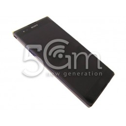 Display Touch Nero + Frame Purple Xperia T2 Ultra Dual Sim