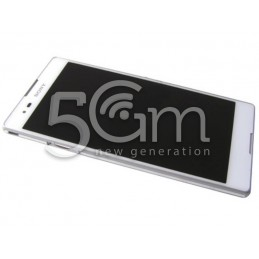 Display Touch Nero + Frame Bianco Xperia T2 Ultra Dual Sim