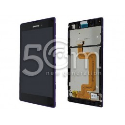 Display Touch Nero + Frame Purple Xperia T3