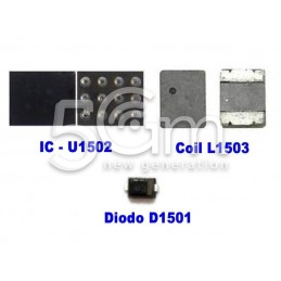 Kit Riparazione Backlight IC Coil Diode Filters iPhone 6