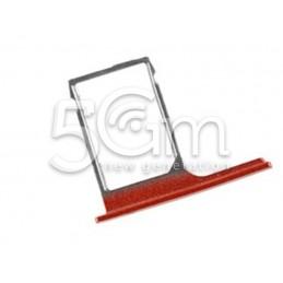 Supporto Sim Card Rosso Htc One M8