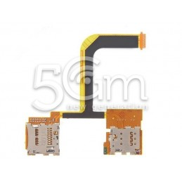 Sim Card + Memory Card Flat Cable HTC One Mini 2