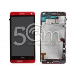Display Touch Nero + Frame HTC M7 x Ver Rosso