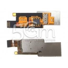 Huawei Y300 Sim Card Reader Flex Cable + Holder
