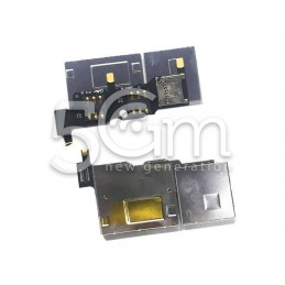 Lettore Dual Sim Card + Merory Card + Supporto Flat Cable Huawei G510