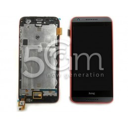 Display Touch Nero +  Frame Rosso HTC Desire 620G