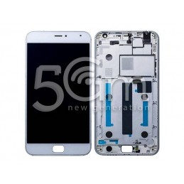 Display Touch Bianco + Frame Meizu MX4 Pro
