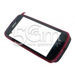 Touch Screen Cover Nero-rosa Nokia 610 Lumia