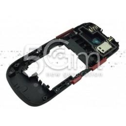 Nokia 202 Asha Black-Red Middle Frame