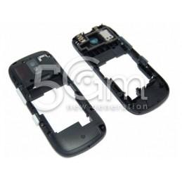Nokia 202 Asha Full Black-White Middle Frame