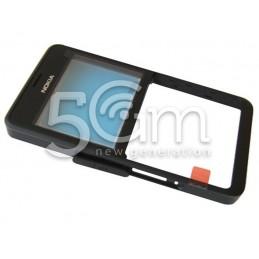Nokia 210 Asha Dual Black Front Cover