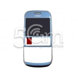 Nokia 302 Asha Blue Front Cover