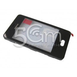Touch Screen Nero + Frame + Altoparlante Nokia 501 Asha