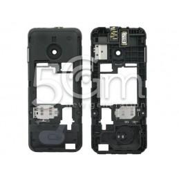 Nokia 208 Dual Sim Black Middle Frame