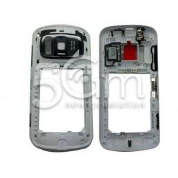 Nokia 808 Pureview White Middle Frame + Ringer + Audio Jack + Side Keys