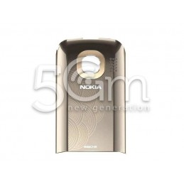 Nokia C2-06 Silver Gold Back Cover + Camera Glass Lens