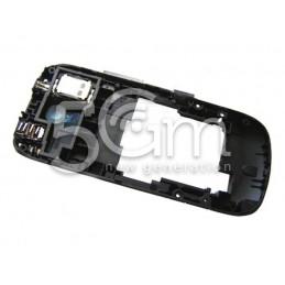 Nokia 203 Asha Black Middle Frame + Grey External Keys
