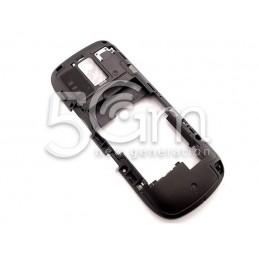 Nokia 203 Asha Black Middle Frame + White External Keys