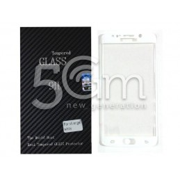 Premium Tempered Glass Protector White Samsung SM-G925 S6 Edge