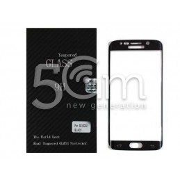 Premium Tempered Glass Protector Black Samsung SM-G925 S6 Edge