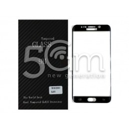 Premium Tempered Glass Protector Black Samsung SM-G928 S6 Edge+
