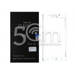 Premium Tempered Glass Protector White Samsung SM-G928 S6 Edge+