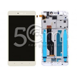 Lcd Touch Gold + Frame Xiaomi Redmi Note 4x