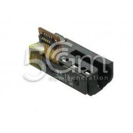 Jack Audio Black Flat Cable Huawei P10 Lite