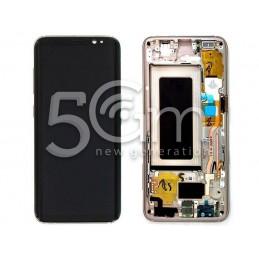"Display Touch Black + Frame Samsung SM-G950 S8 ""Gold"""