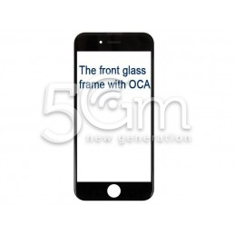 Vetro Nero Con Pellicola Oca + Frame iPhone 6S Plus