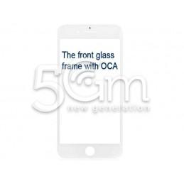 Vetro Bianco Con Pellicola Oca + Frame iPhone 7 Plus