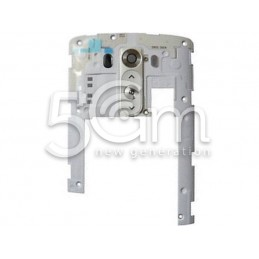 LG G3 D855 White Top Back Cover + Flex Cable