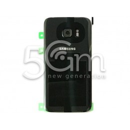 Samsung SM-G930 S7 Black Back Cover Includes Glass Lens + Camera Frame