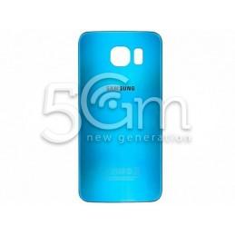 Retro Cover Celeste + Adesivo Guarnizione Samsung SM-G920 S6 Ori